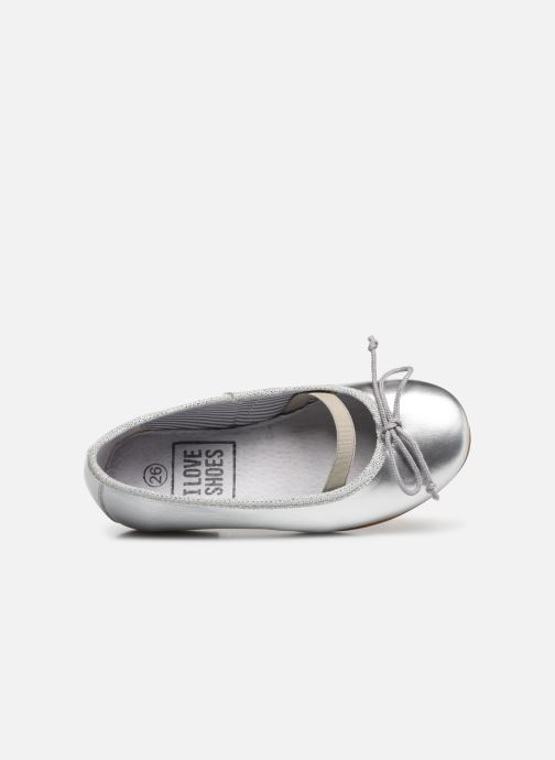 Ballerines I Love Shoes Borelina Leather Argent vue gauche