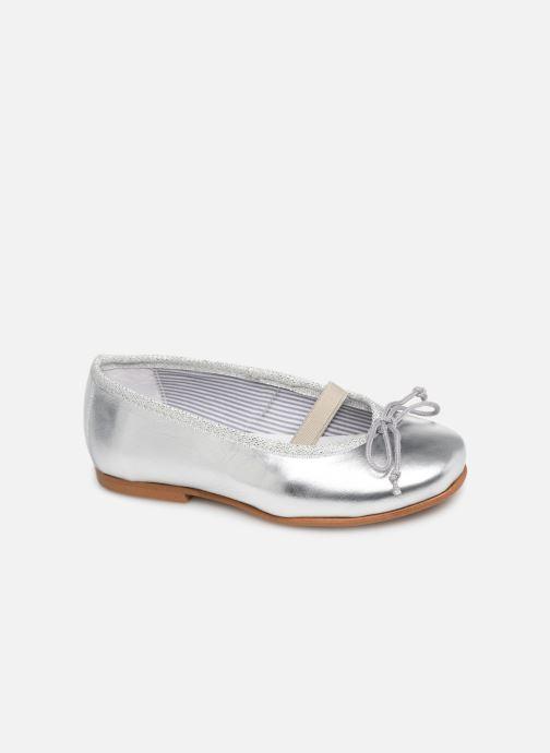 Ballerina I Love Shoes Borelina Leather Silver detaljerad bild på paret