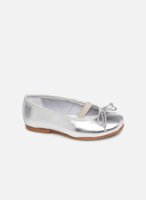 Ballerina I Love Shoes Borelina Leather Silver detaljerad bild på paret