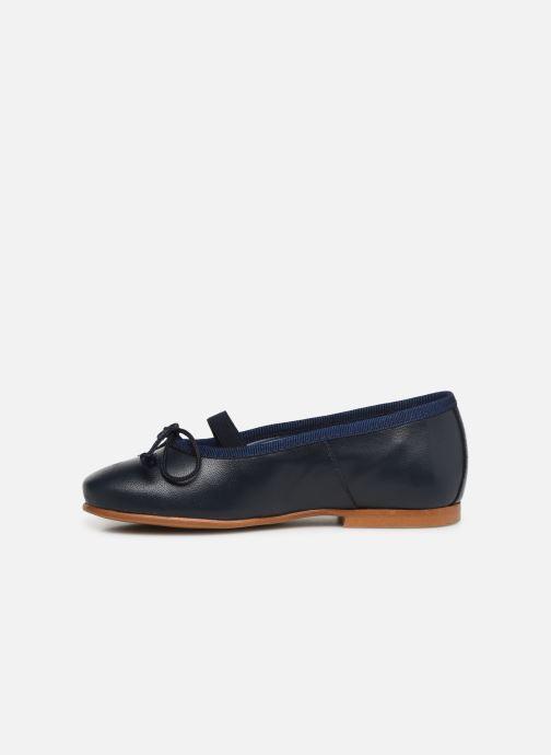 Ballerines I Love Shoes Borelina Leather Bleu vue face