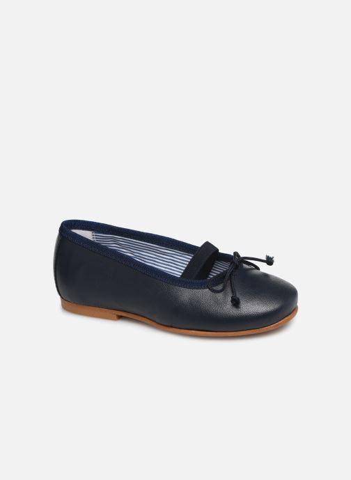 Ballerines I Love Shoes Borelina Leather Bleu vue détail/paire