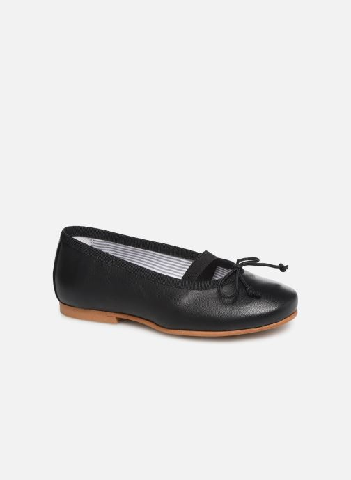 Ballet pumps I Love Shoes Borelina Leather Black detailed view/ Pair view