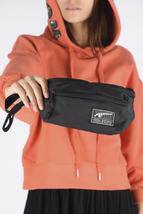 Wallets & cases Puma ACADEMY WAIST BAG Black view from underneath / model view