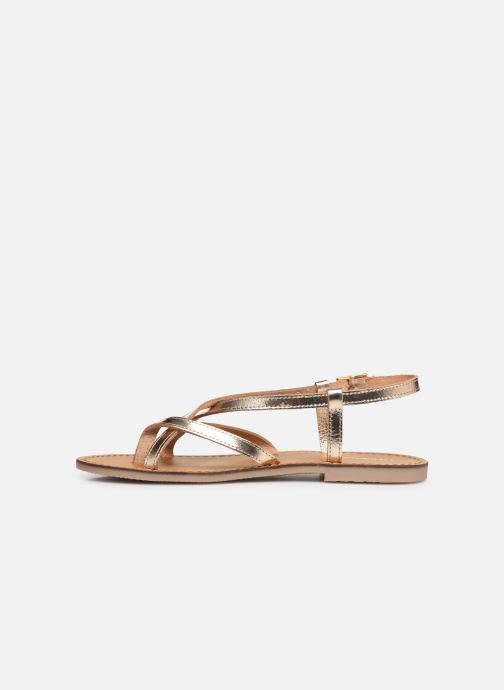 Sandales et nu-pieds Les Tropéziennes par M Belarbi Chouette Or et bronze vue face