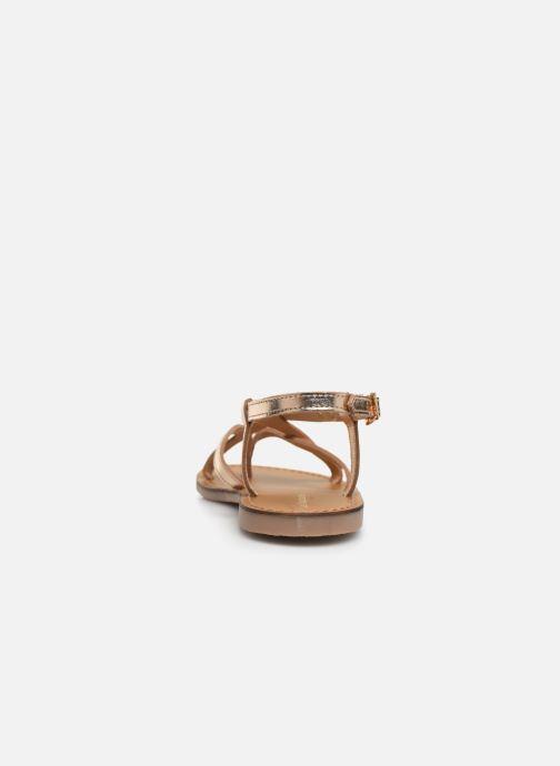 Sandales et nu-pieds Les Tropéziennes par M Belarbi Chouette Or et bronze vue droite