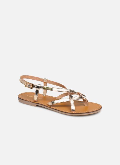 Sandales et nu-pieds Les Tropéziennes par M Belarbi Chouette Or et bronze vue détail/paire