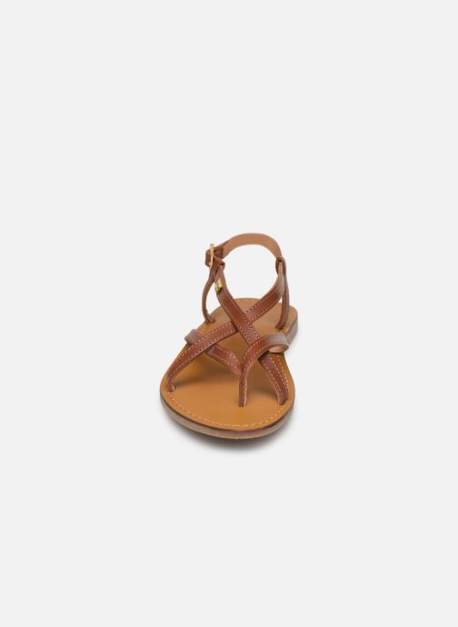 Sandales et nu-pieds Les Tropéziennes par M Belarbi Chouette Marron vue portées chaussures