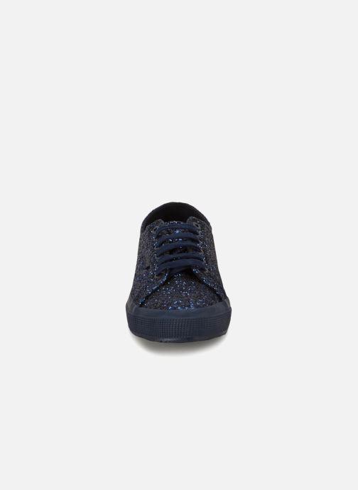 Baskets Superga 2750 Macroglitterw Bleu vue portées chaussures