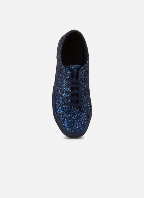 Sneakers Superga 2750 Macroglitterw Blauw links