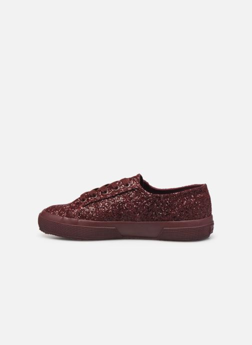 Baskets Superga 2750 Macroglitterw Bordeaux vue face