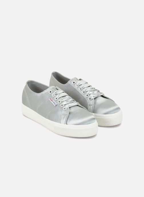 Baskets Superga 2730 Satin W Gris vue face