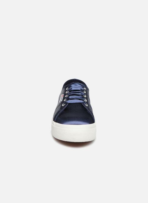 Sneaker Superga 2730 Satin W blau schuhe getragen