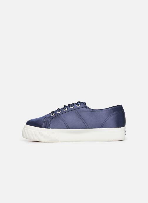 Sneakers Superga 2730 Satin W Blauw voorkant