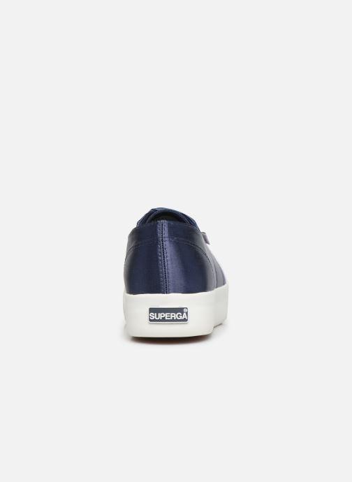 Sneaker Superga 2730 Satin W blau ansicht von rechts