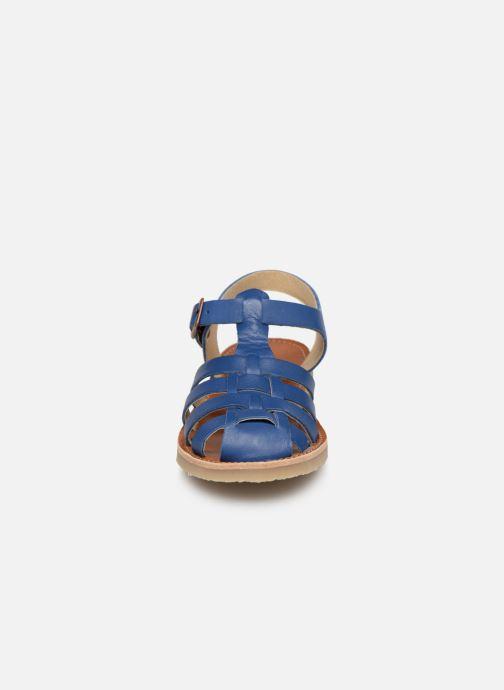 Sandales et nu-pieds Tinycottons Braided sandals Bleu vue portées chaussures
