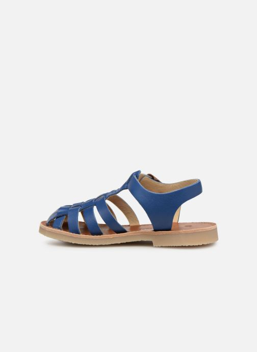 Sandales et nu-pieds Tinycottons Braided sandals Bleu vue face