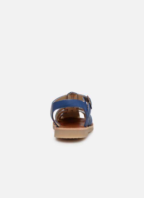 Sandales et nu-pieds Tinycottons Braided sandals Bleu vue droite