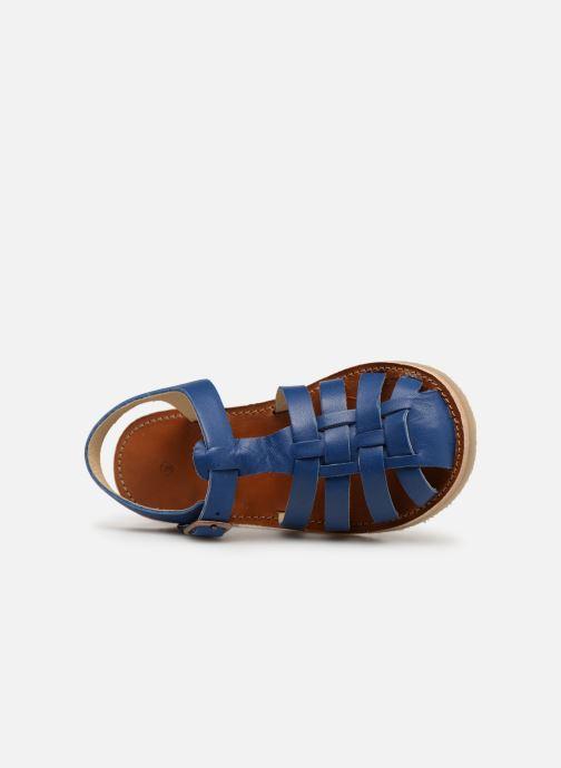 Sandalen Tinycottons Braided sandals blau ansicht von links