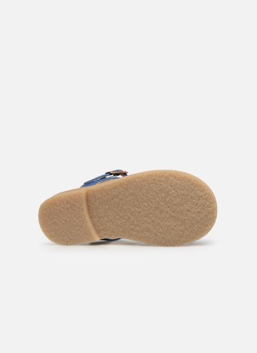 Sandales et nu-pieds Tinycottons Braided sandals Bleu vue haut