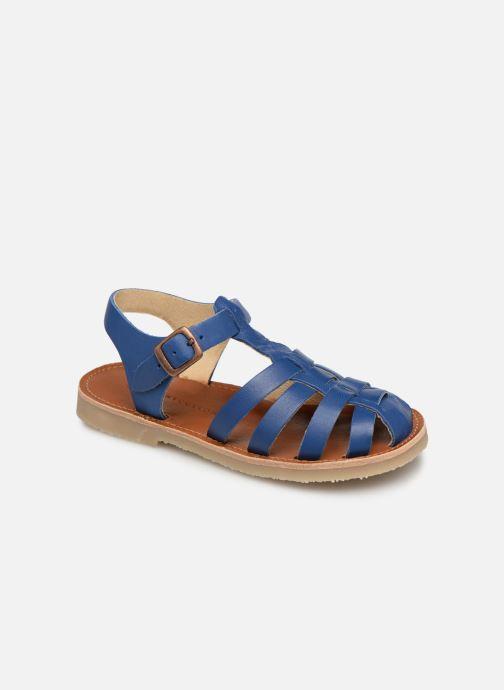 Sandaler Tinycottons Braided sandals Blå detaljerad bild på paret
