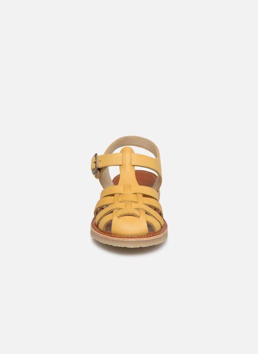Sandales et nu-pieds Tinycottons Braided sandals Jaune vue portées chaussures