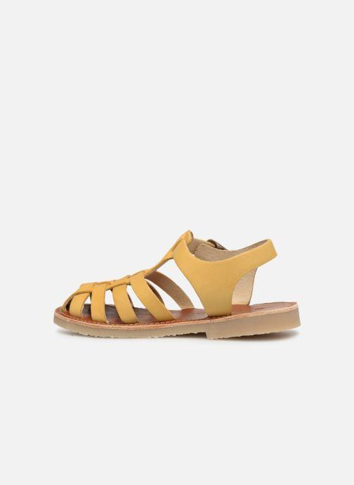 Sandales et nu-pieds Tinycottons Braided sandals Jaune vue face