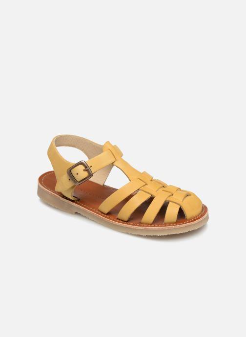 Sandaler Tinycottons Braided sandals Gul detaljerad bild på paret