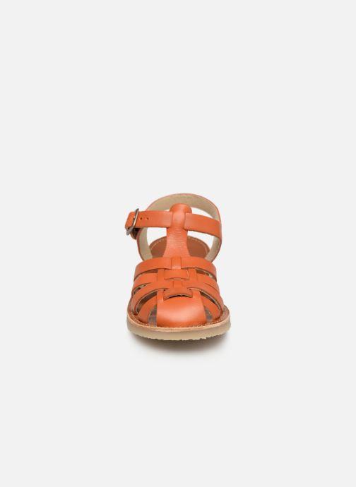 Sandales et nu-pieds Tinycottons Braided sandals Marron vue portées chaussures