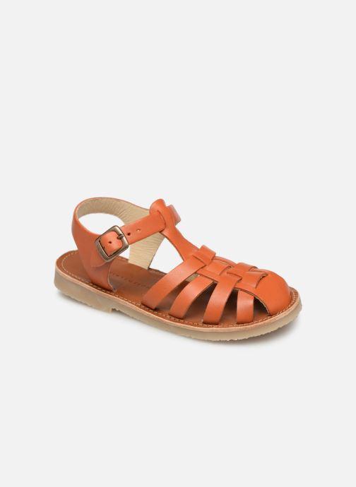 Sandales et nu-pieds Tinycottons Braided sandals Marron vue détail/paire