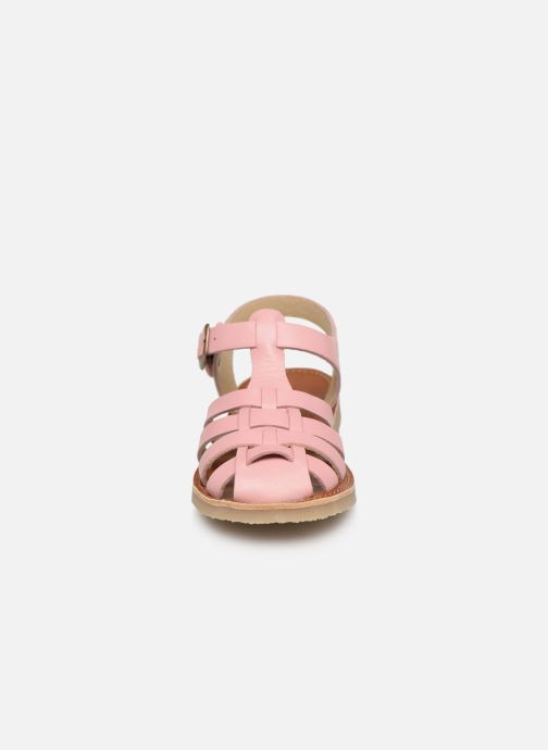 Sandales et nu-pieds Tinycottons Braided sandals Rose vue portées chaussures