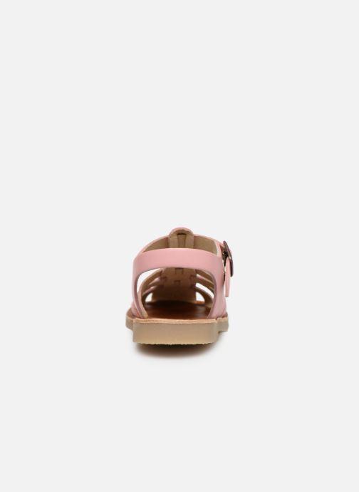 Sandales et nu-pieds Tinycottons Braided sandals Rose vue droite