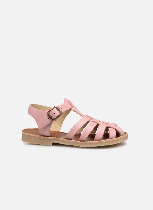 Sandales et nu-pieds Tinycottons Braided sandals Rose vue derrière