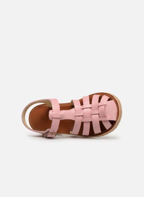 Sandals Tinycottons Braided sandals Pink view from the left