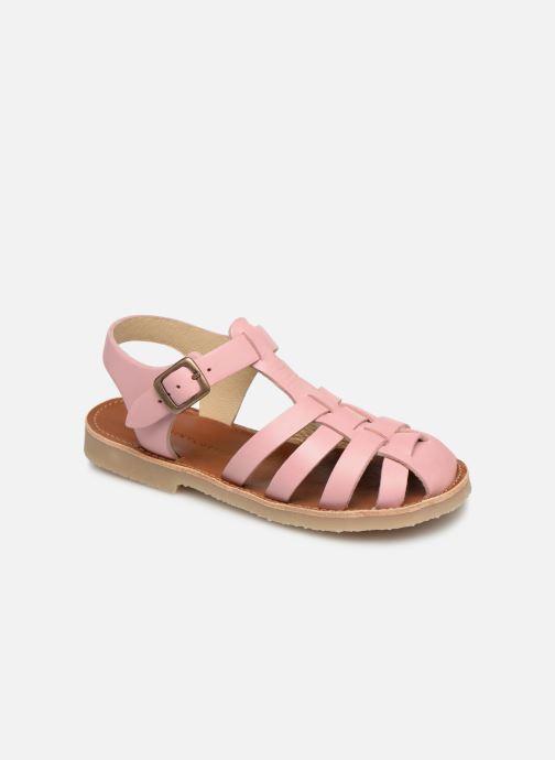 Sandales et nu-pieds Tinycottons Braided sandals Rose vue détail/paire