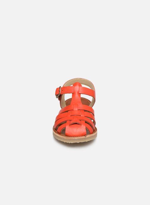 Sandales et nu-pieds Tinycottons Braided sandals Orange vue portées chaussures