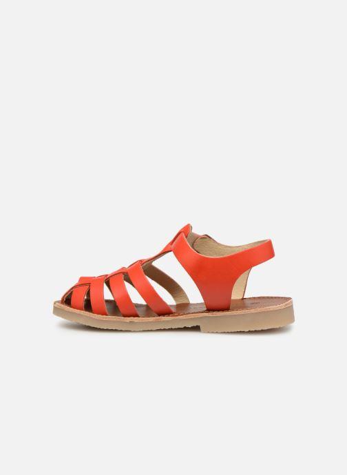 Sandales et nu-pieds Tinycottons Braided sandals Orange vue face