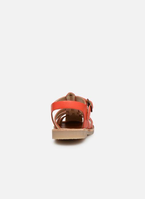 Sandalias Tinycottons Braided sandals Naranja vista lateral derecha