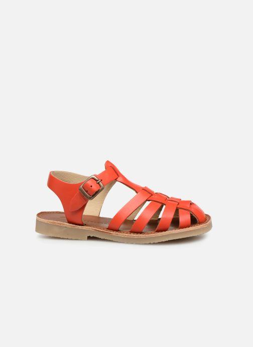 Sandales et nu-pieds Tinycottons Braided sandals Orange vue derrière