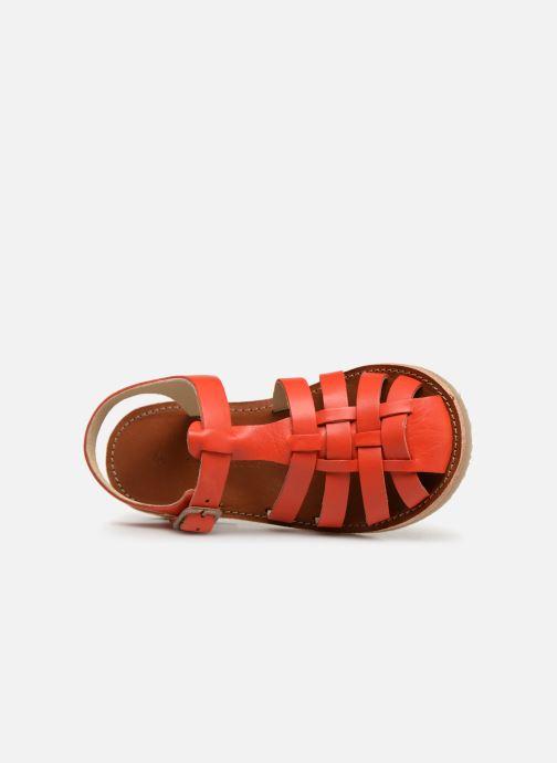Sandalias Tinycottons Braided sandals Naranja vista lateral izquierda