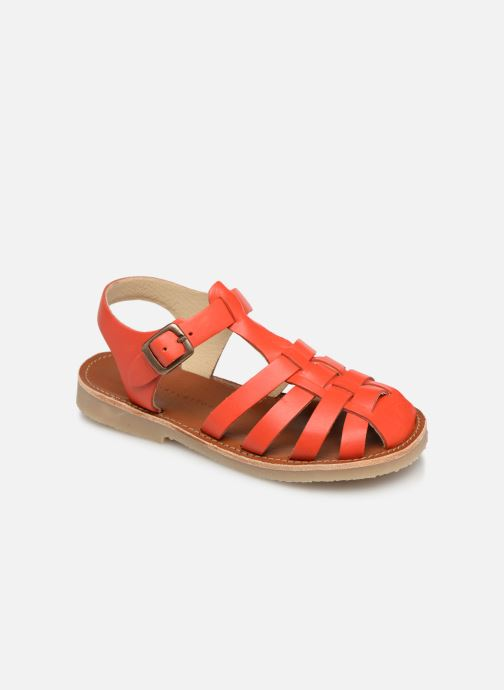 Sandaler Tinycottons Braided sandals Orange detaljerad bild på paret
