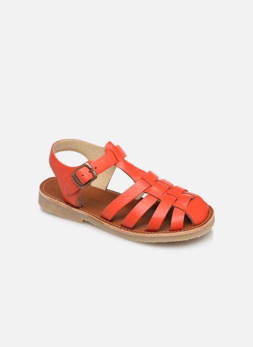 Sandales et nu-pieds Tinycottons Braided sandals Orange vue détail/paire