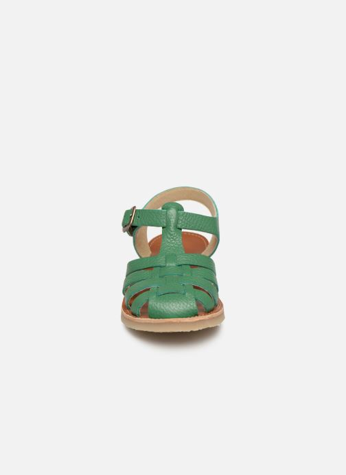 Sandales et nu-pieds Tinycottons Braided sandals Vert vue portées chaussures