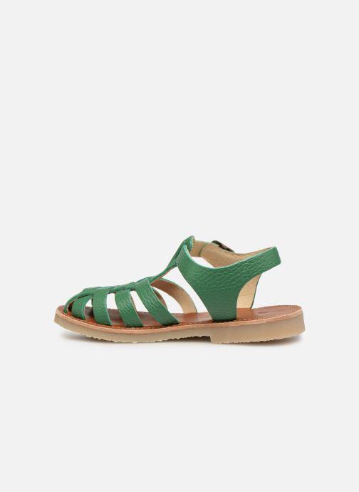 Sandales et nu-pieds Tinycottons Braided sandals Vert vue face