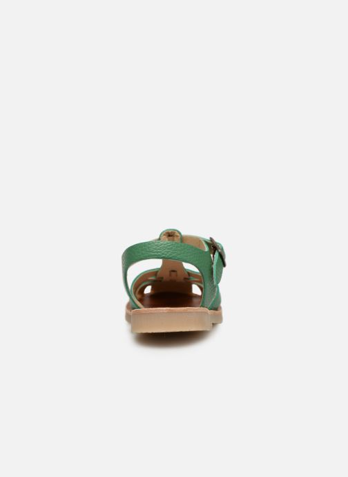 Sandales et nu-pieds Tinycottons Braided sandals Vert vue droite