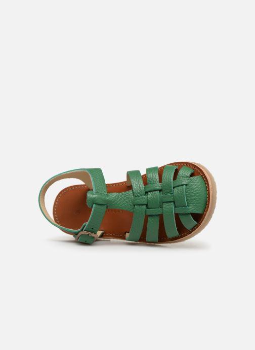 Sandalen Tinycottons Braided sandals grün ansicht von links