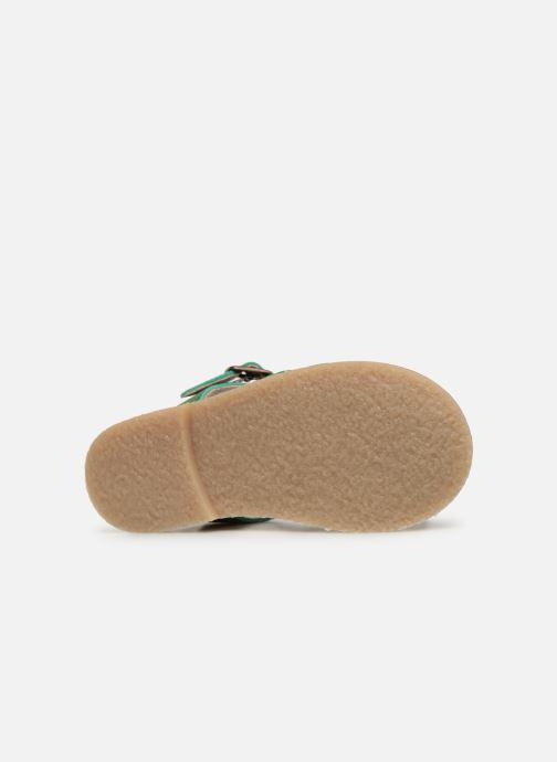 Sandales et nu-pieds Tinycottons Braided sandals Vert vue haut