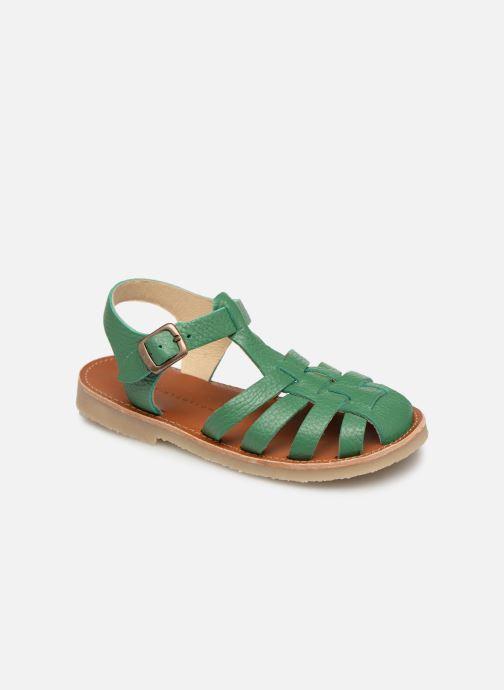 Sandales et nu-pieds Tinycottons Braided sandals Vert vue détail/paire