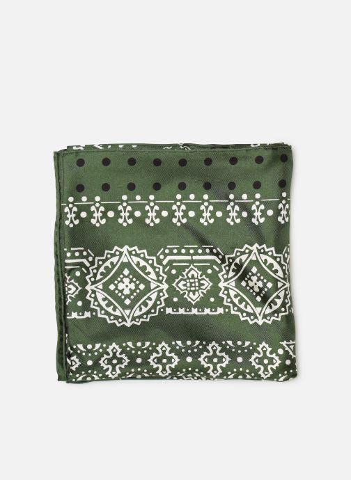 Sciarpa y foulard Manipuri 34 65X65 Verde modello indossato