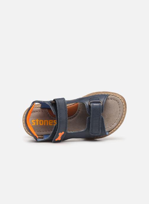 Sandales et nu-pieds Stones and Bones Dado Bleu vue gauche
