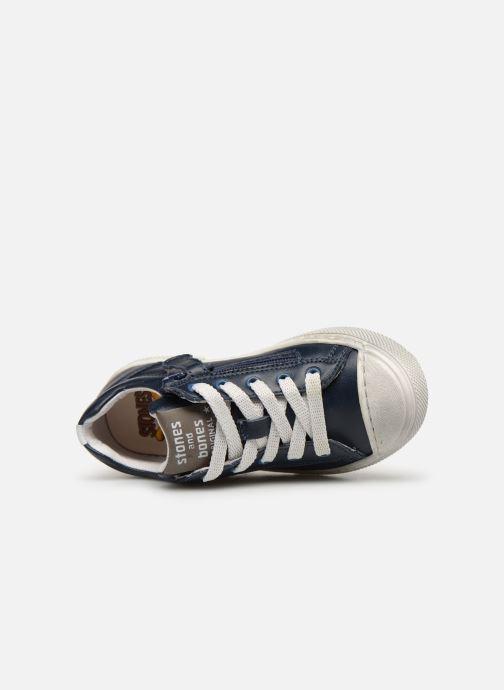 Sneakers Stones and Bones Corso Blå bild från vänster sidan